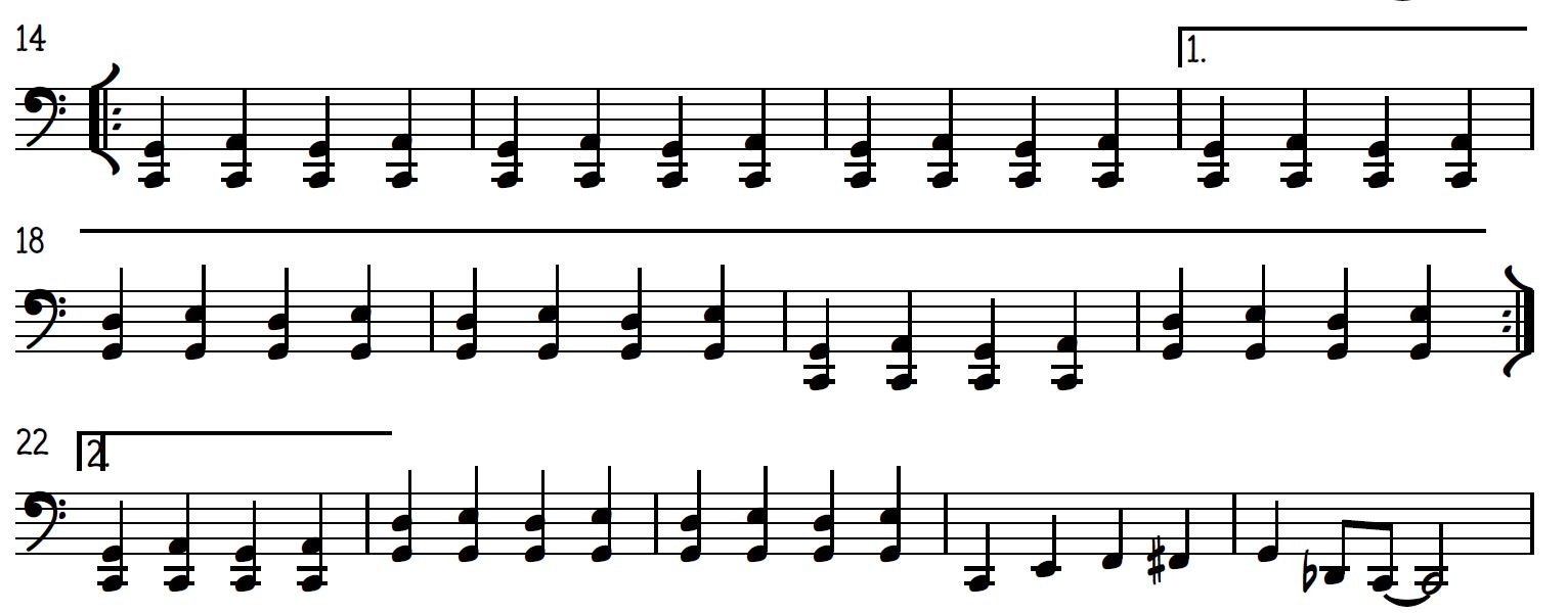 Go Tell It On the Mountain Jazz Piano bass line
