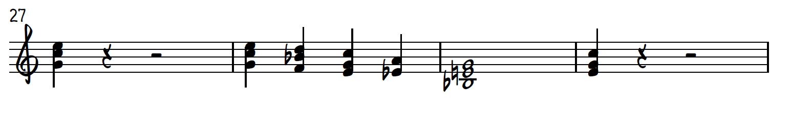 Right hand first four measures