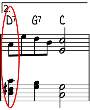 Basic version ending with root position chords