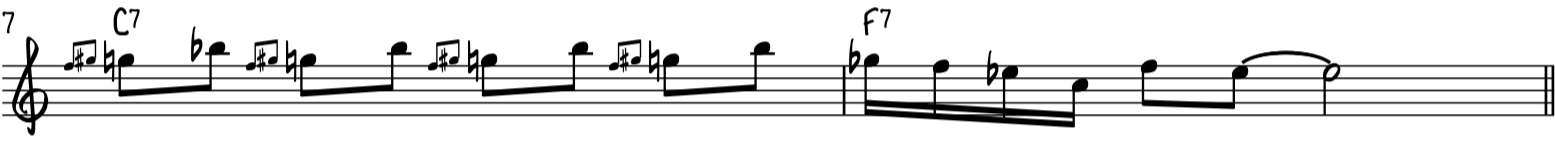 Easy blues piano riff uses blues slides and runs on the blues scale