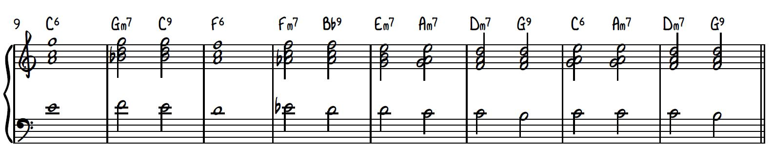 """Drop 2 voicings for """"Misty"""""""