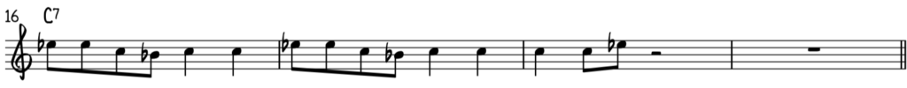 Blues often uses a simpler repetitive melody like this as opposed to jazz