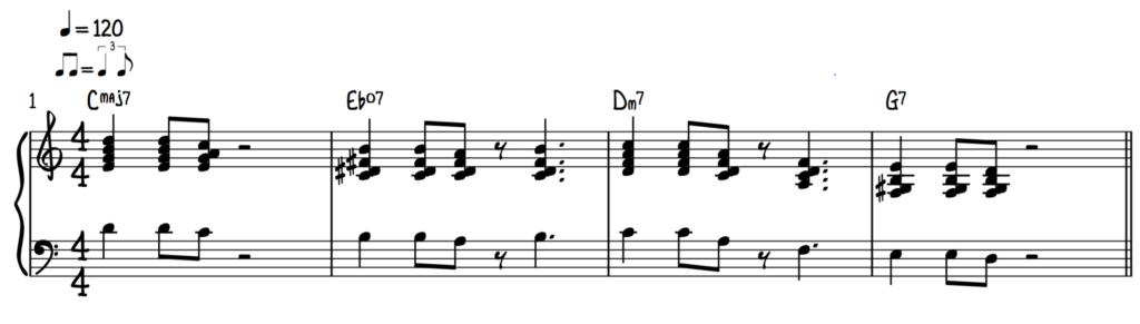Block Chord Piano Riff