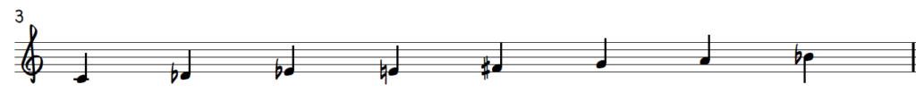 C Dominant Diminished Scale