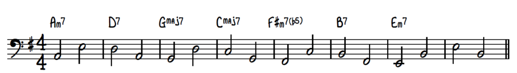 2-feel bass line
