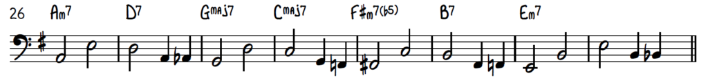 2-feel bass line with variations