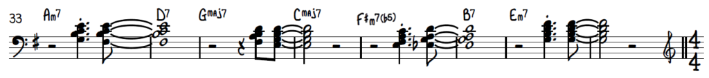 Chord pops - rootless voicings