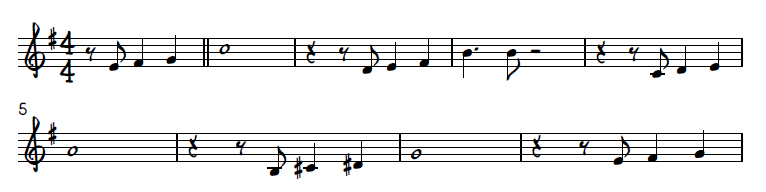 Autumn Leaves melody with rhythmic variation