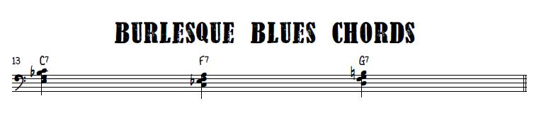 Burlesque blues chords