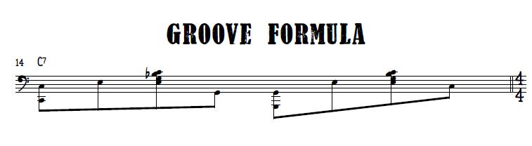 Burlesque blues groove formula
