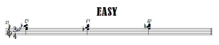 Big right hand chords - easy