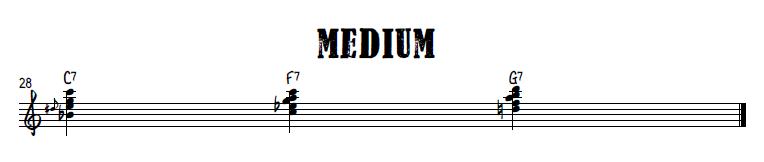 Burlesque blues right hand chords - medium