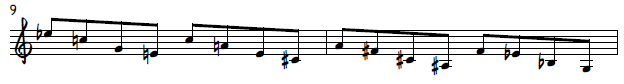 Diminished-sounding triad pair pattern