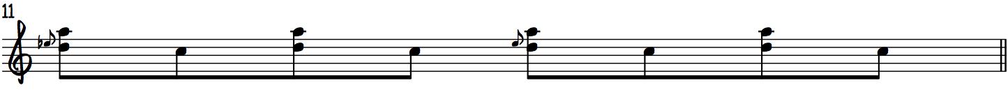 Examples of harmonized slides using the Gospel Scale