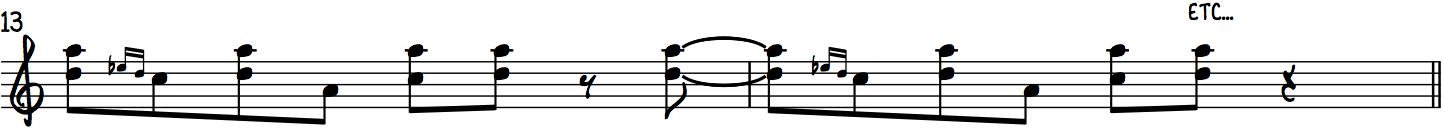Harmonized Turns using the Gospel Scale