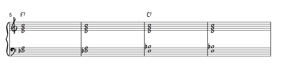 Quartal Voicing Blues Comping - Middle 4 Measures