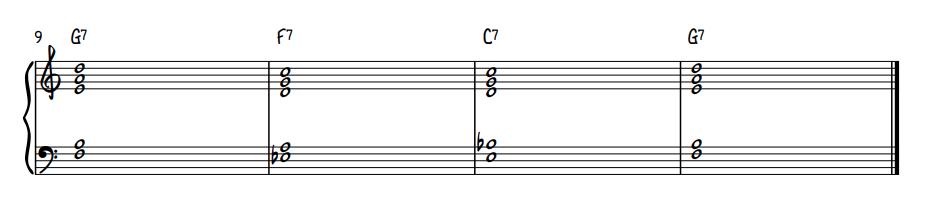 Quartal Voicing Blues Comping - Final 4 Measures