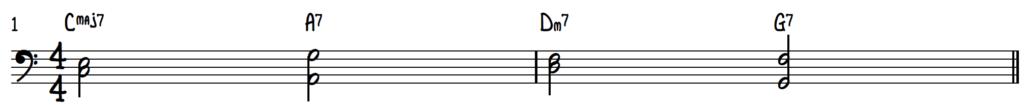 Jazz piano chord shells for improv on turnaround progression (rhythm changes)