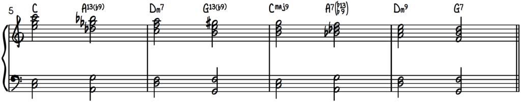 Upper structure triads over turnaround progression (rhythm changes) for jazz piano improv.