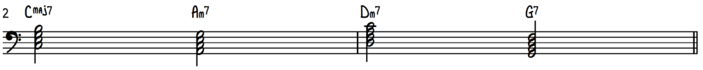 Basic Turnaround Progression (Rhythm Changes) on Piano in the Key of C