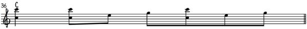 Forward Rag Roll Ragtime Piano on a C Major Chord
