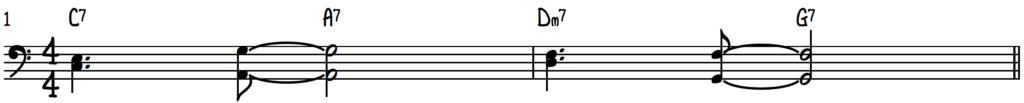 Turnaround Progression (Rhythm Changes) in the Key of C with Charleston Rhythm