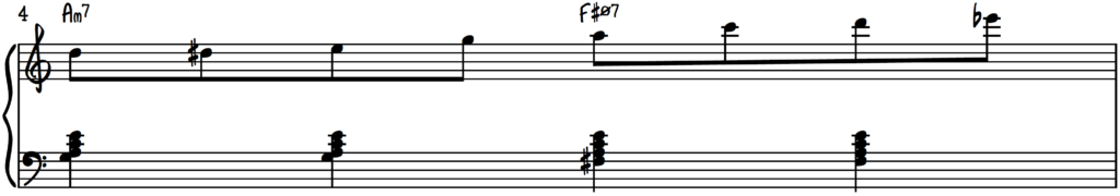 8th Note Exercise starting on D