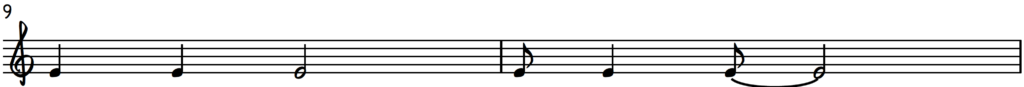 Jingle Bells syncopated melody on piano