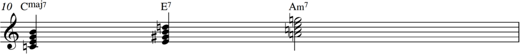 Secondary dominant piano passing chord