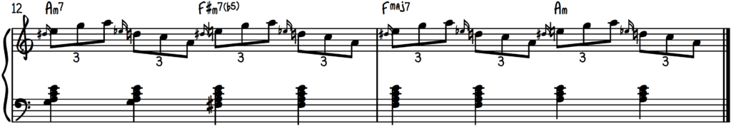 Slide Exercise for slow blues piano improv practice