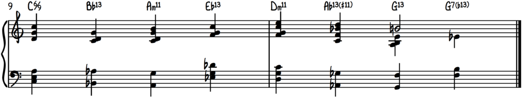 Jazz piano harmony pillar #4, melody with quartal voicings, cluster voicings, and passing chords