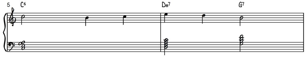 Melody with G6 Dm7, G7 2-5-1 chord progression