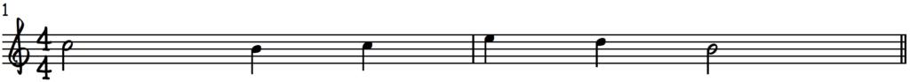 Simple lead sheet piano demonstration melody for 4 pillars of jazz piano harmony