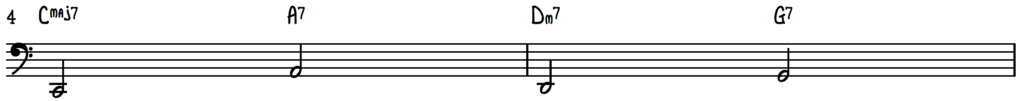 Turnaround Progression Half Note Bass Line for Jazz Piano