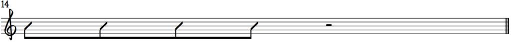 Blues rhythm template 1