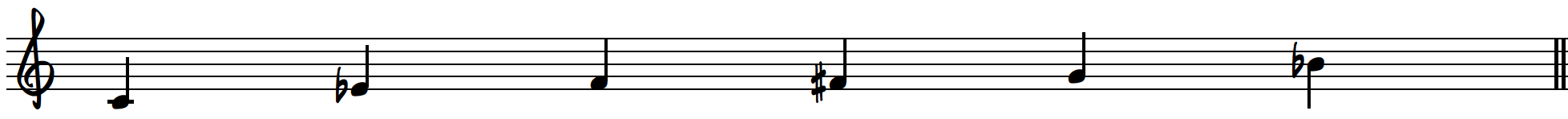 C blues scale on piano