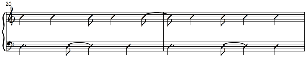Contemporary praise and worship piano accompaniment groove pattern