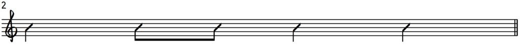 Example rhythm template