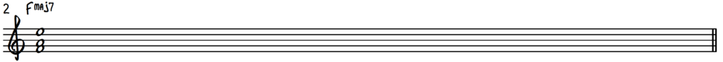 F Major 7 chord shell for jazz piano