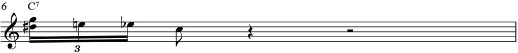 Harmonized triplet to create the blues roll