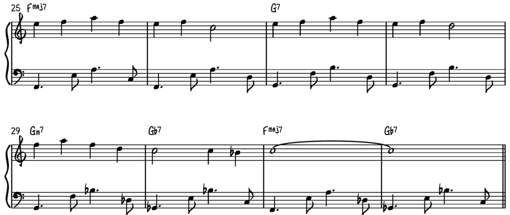 In Your Eyes with Bossa Nova left hand open position accompaniment