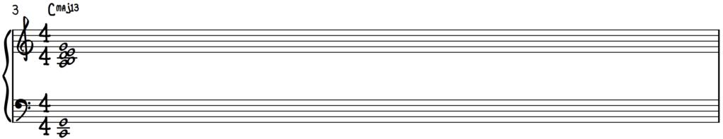 C major 13 chord for jazz piano