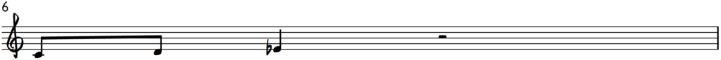 Melodic pattern 1