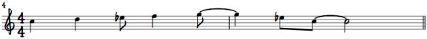 C Dorian Piano Melody 1