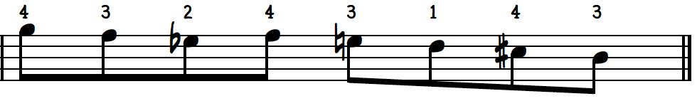Second measure of Chord Enclosure Descending Exercise