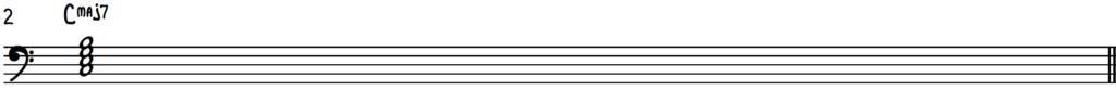 C Major 7 chord notation