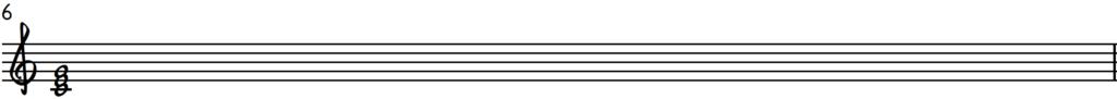 C Major Chord notation