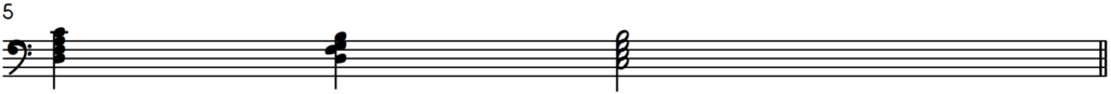 Inverted 2-5-1 chord progression notation for beginner jazz piano