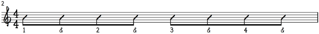 Normal 8th notes notation