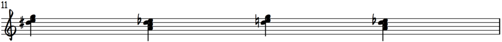 Shifting between Grip 1 and Grip 2 exercise notation